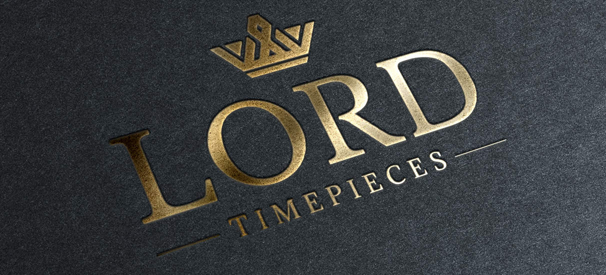 Logo design graphic designer web development pixel freak creative logo and identity for Lord timepieces