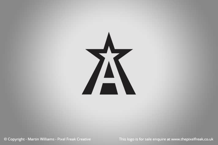 A Star Logo V2 For Sale Logo Design Graphic Designer Web