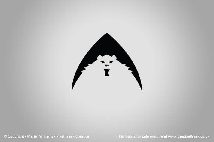 Bear Arrow Logo Motif Negative Space