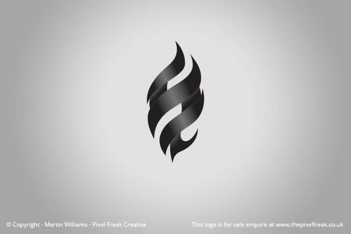 Black Flame Logo Motif