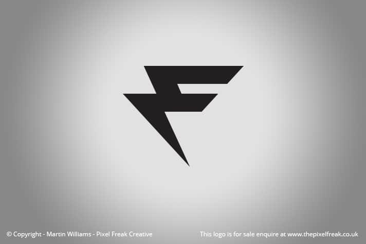 F Logo Motif Lightning Bolt