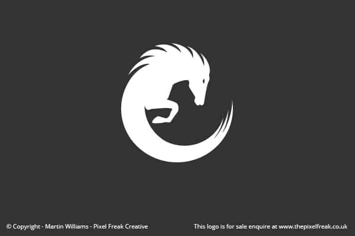 Horse Circle Wave Logo For Sale Logo Design Graphic Designer