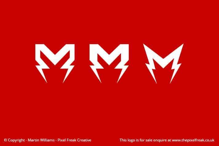 M Lightning Bolt Logo Motif