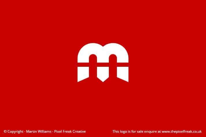 M Logo Letterform Motif 2