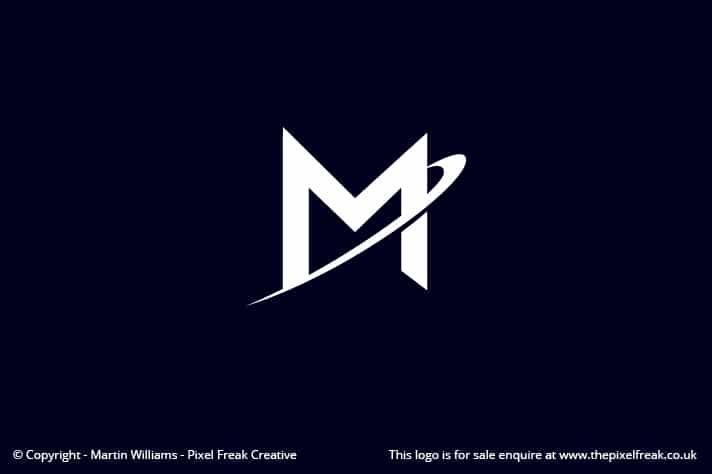 M Swoosh Logo Design Motif