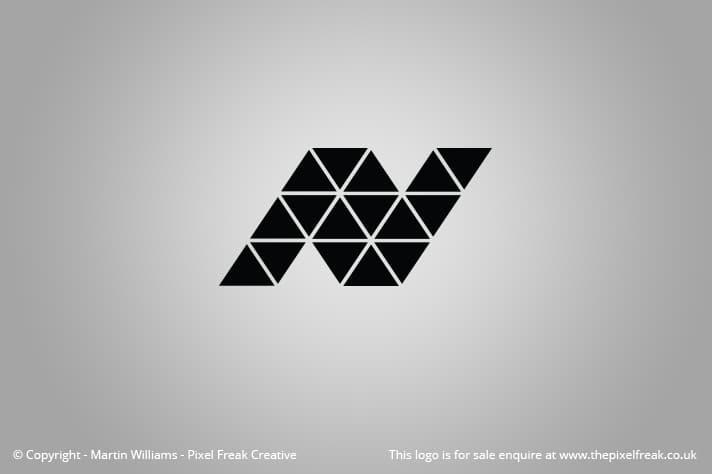 N Logo Motif Triangles