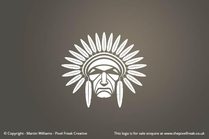 Native American Head Logo
