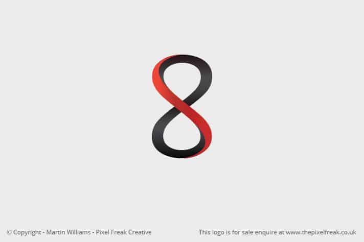 Number 8 Eight Logo Design Motif