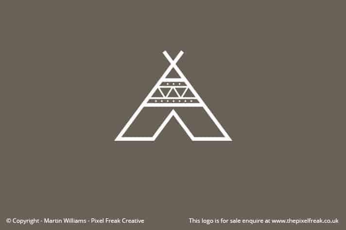 Teepee Tent Logo A Shape