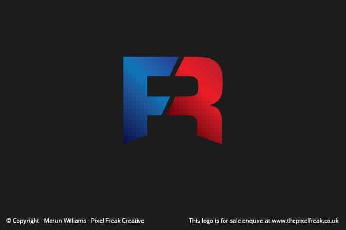 Two Tone F R Logo Motif