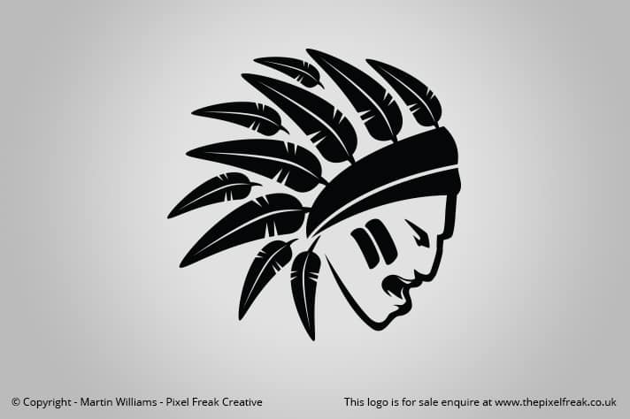 Native American Indian Head Logo