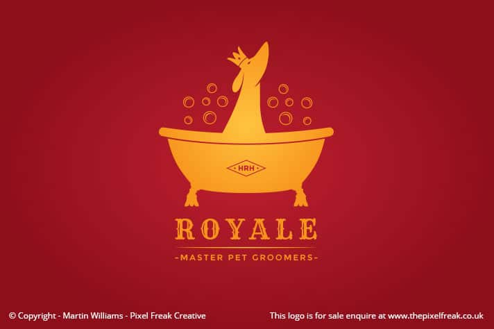 Pet Grooming Wash Logo